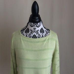 Sag Harbor Green Knit Crewneck Sweater
